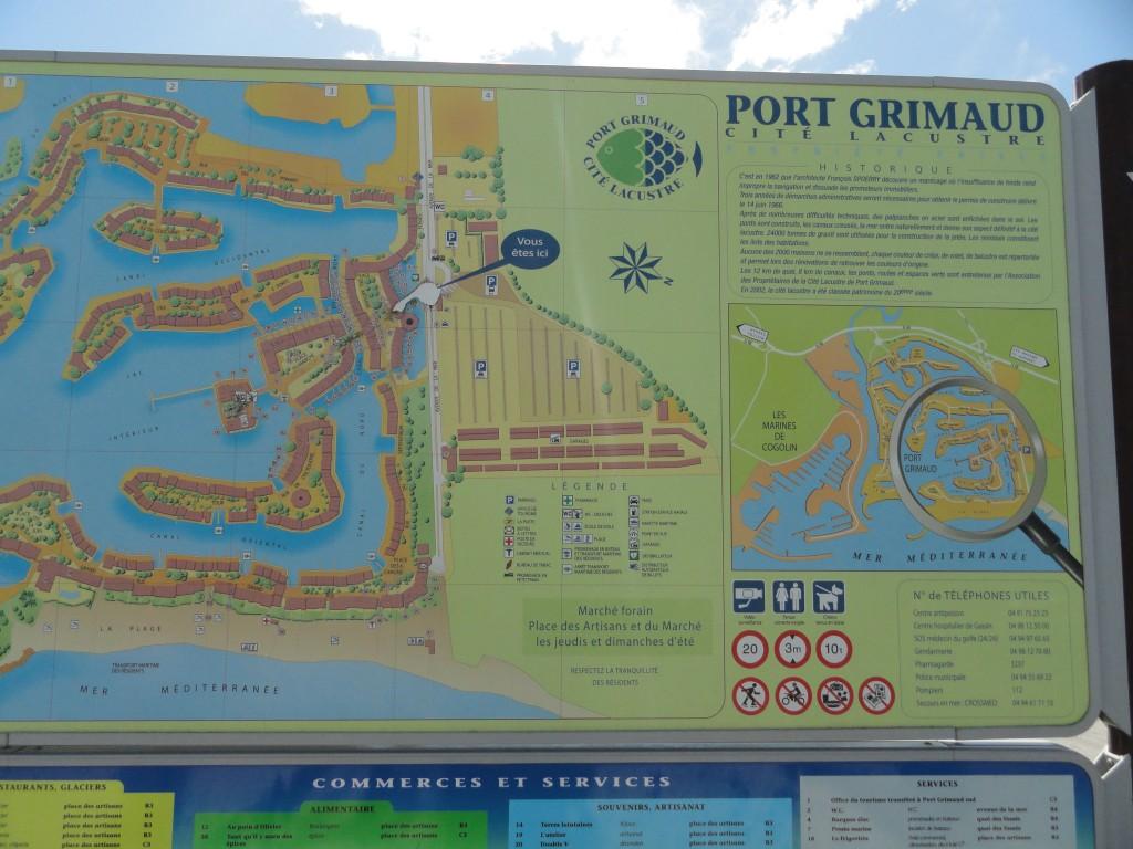 plan de port grimaud cité lacustre